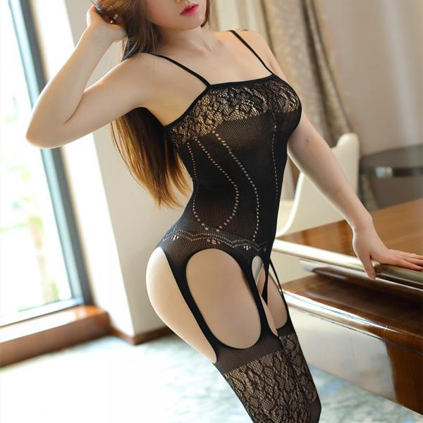 Sexy hollow out sexy underwear Plus Size mesh Open Crotch Sexy Costumes Dress bodystocking