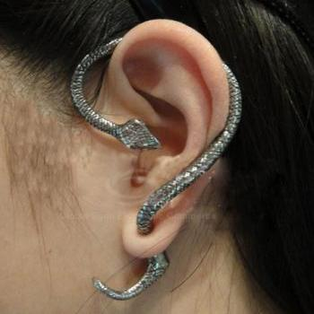 Punk Style and Stylish Twining Snake Ear Stud