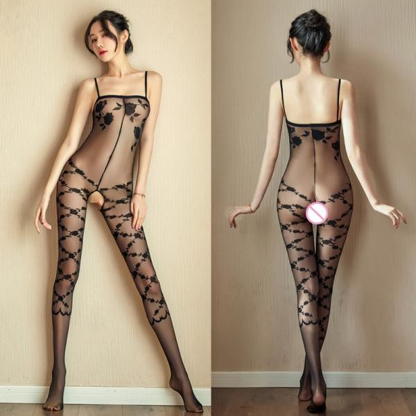 2020 New Sexy Bodystockings Women Erotic Lingerie Temptation Perspective Tights Black White See Through Underwear Sexy Costumes