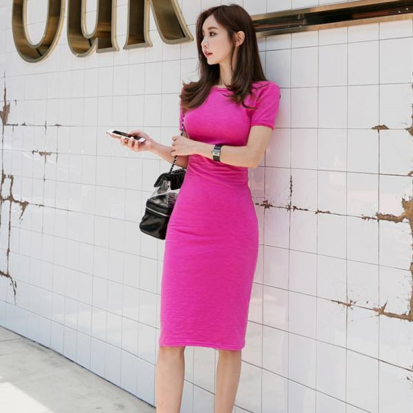 Sexy Blackless Short Sleeve Party Bodycon Dress