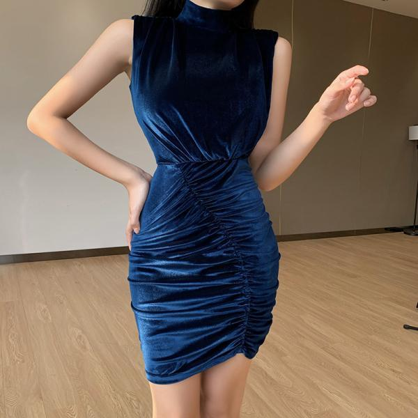 Sexy Velvet Sleeveless Party Dress
