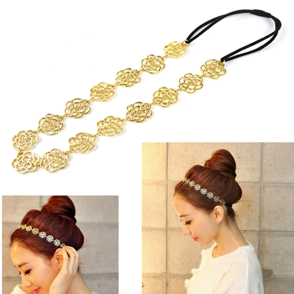 Lovely Cute Sweet Exquisite Hollow Out Rose Flower Hair Band Headband