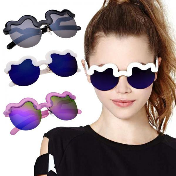 Hot Fashion Cool Trendy Unisex Half Frame Sunglasses 3 Colors