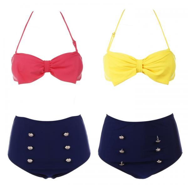Retro Pin Up High Waisted Bikini