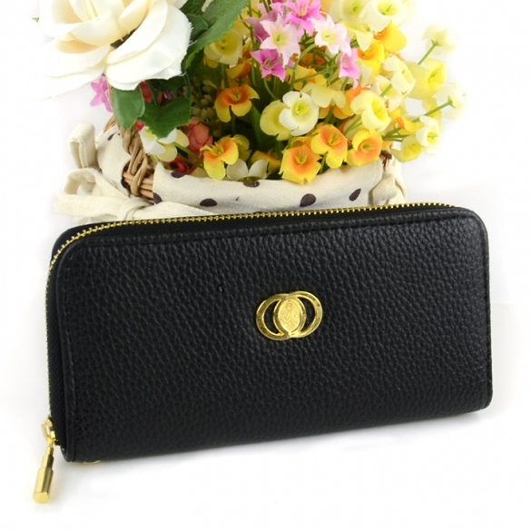 Women's Embossed Synthetic Leather Purse Wallet Card Bag
