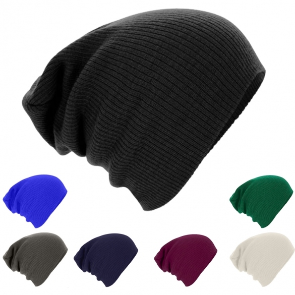 Fashion European Style Autumn Winter Unisex Knit Crochet Warm Beanie Hat Oversized Slouch Cap
