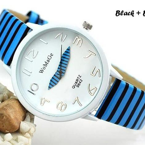 Zebra Strap Wrist Watch For Women Sports Wristwatch Quartz Watch