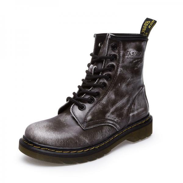 High Quality Leather Lace Up Lovers Martin Boots