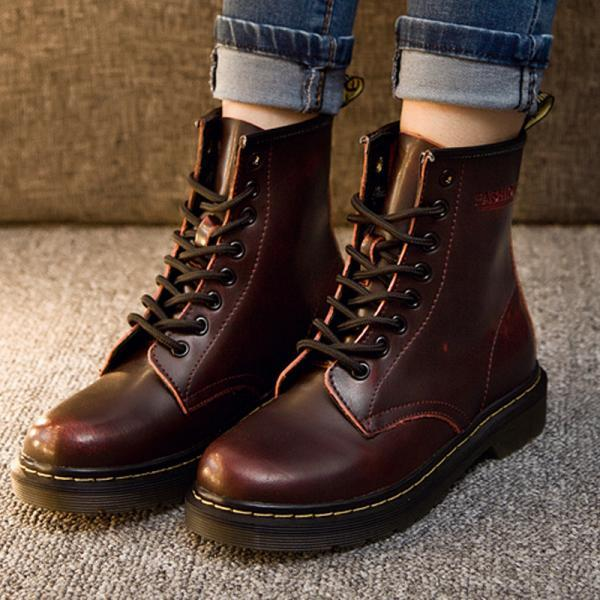 British High Quality Leather Lovers Martin Boots