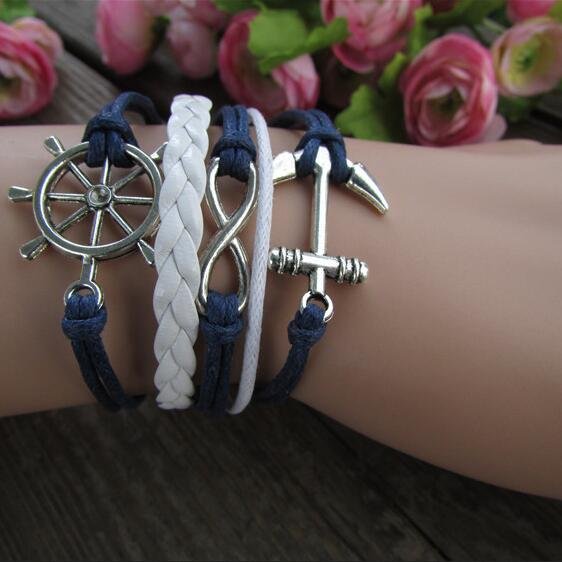 Anchor Eight Multilayer Colored Bracelet