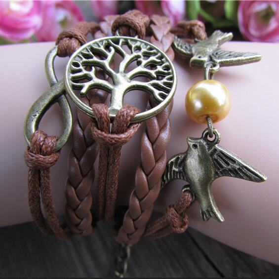 Hand Woven Dove Tree Multielements Bracelet