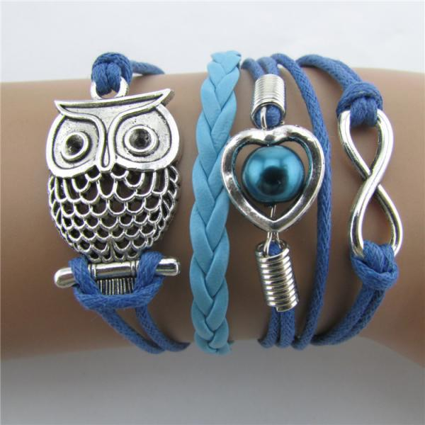 Beautiful Hollow Out Owl Bracelet