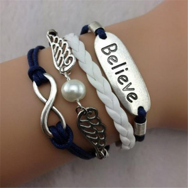Angel Wings Multielement Wax Line Bracelet