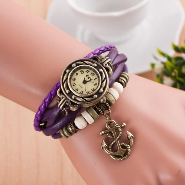 Retro Anchor Pattern Punk Watch