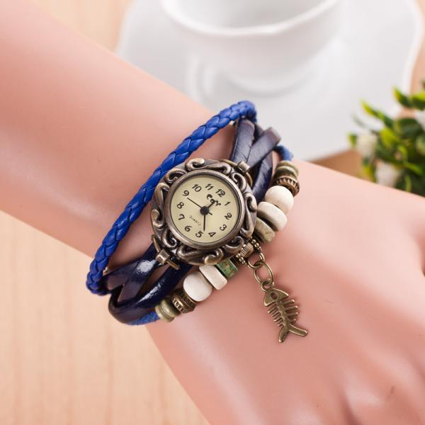 Retro Style Fish Bone Watch