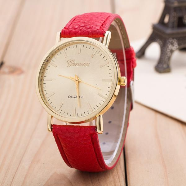 Korean Style Fashion Leather Wristwatch