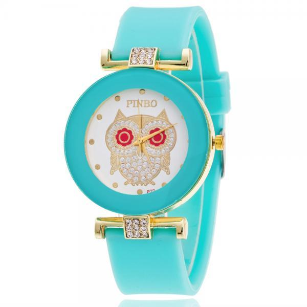 Owl Crystal Silica Quartz Watch