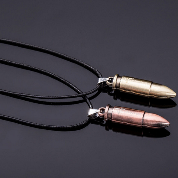 The old man character bullet Necklace