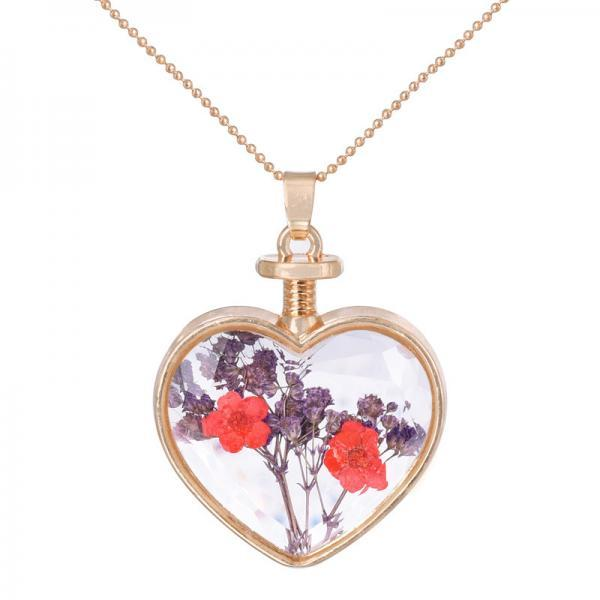 Mantianxing flower bouquet fresh and forget me a bottle Necklace