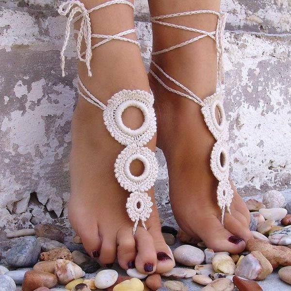 The bride hand woven Fingerless Anklet